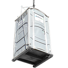 Crane Lifted Porta Potty Rental | Go Services Inc.